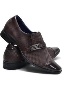 Sapato Social Ruggero 3D Masculino - Masculino-Cafe