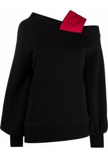 Atu Body Couture Blusa Assimétrica Com Alças Em Matelassê - Preto