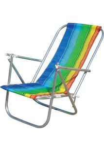 Cadeira De Praia Botafogo 2 Posições Cad0041 Em Alumínio