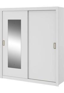 Guarda Roupa Apoena Plus 2 Portas Com Espelho Branco