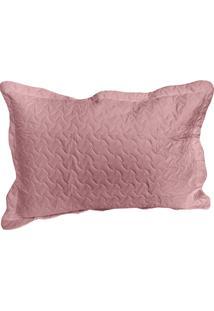 Porta Travesseiro Matelado Avulso Cores 50X70Cm Rozac Rosa Bebe - Multicolorido - Dafiti