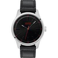 61995378f29 Relógio Hugo Boss Masculino Couro Preto - 1530018