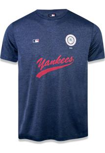 T-Shirt New Era Performance New York Yankees Mescla Marinho