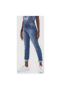 Calça Jeans Dzarm Skinny Desgastes Azul