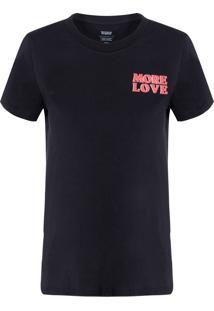 Camiseta Feminina Manga Curta - Preto