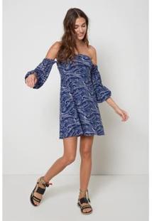 Vestido Ombro Est Mare Est Mare - Oh, Boy! - Feminino-Azul
