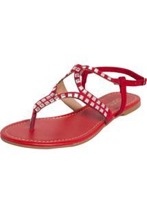 Rasteira Dafiti Shoes Vinho