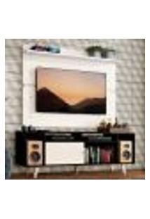 Rack Madesa Cancun Com Pés E Painel Para Tv Até 65 Polegadas - Preto/Branco 7709
