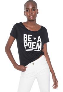 Camiseta Cavalera Be A Poem Preta