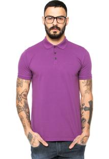 Camisa Polo Ellus 2Nd Floor Logo Roxa