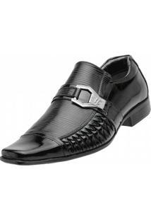 Sapato Social Venetto Trice - Masculino-Preto