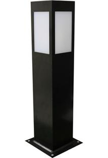 Luminária Balizadora Em Alumínio Bolt 50Cm Preta