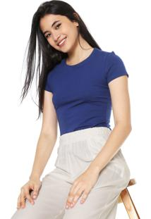 Camiseta Malwee Básica Azul
