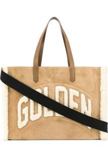 Golden Goose Bolsa Tote Texturizada Com Logo De Lã - Neutro