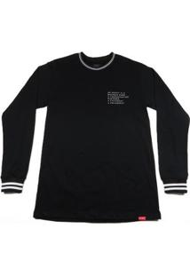 Camiseta Outlawz Longsleeve Outfit - Masculino-Preto