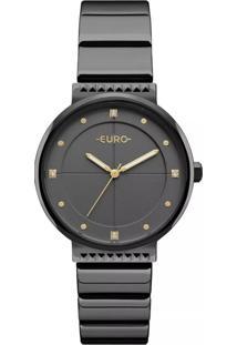Relógio Obietto Euro Spike Slim Preto Eu2035Yob/4P