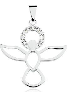 Pingente Toque De Joia Espírito Santo Com Zircônias Branco - Kanui