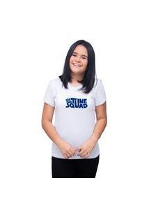 Camiseta Feminina T-Shirt Personalizada Tune Squad - Branco
