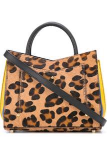 Sara Battaglia Leopard Print Tote Bag - Marrom