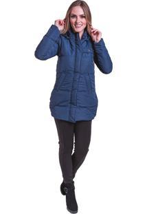 Jaqueta Sobretudo Acolchoado Frio Inverno Carbella Azul Marinho