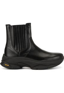 Wooyoungmi Ankle Boot Vibram Com Solado Chunky - Preto