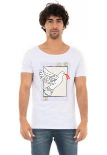 Camiseta Ksa Da Árvore Peace Gola Canoa Branca
