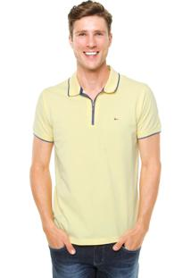 Camisa Polo Aramis Regular Fit Zíper Amarela