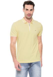 Camisa Polo Aramis Reta Zíper Amarela