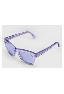 Óculos De Sol Vogue Envernizado Lilás