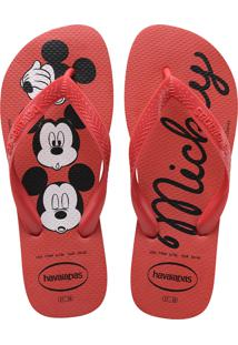 Sandálias Havaianas Top Disney Vermelho
