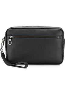 Bottega Veneta Intrecciato Weave-Detailed Clutch - Preto