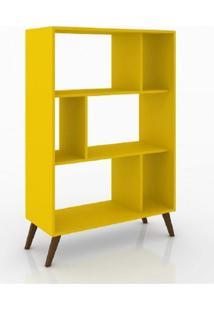Estante Para Livros Rt 3015 Nichos Amarelo Movel Bento