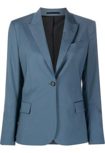 Filippa K Blazer Sasha Com Abotoamento - Azul