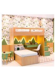 Painél Decorativo Com Acabamento Superior Da Linha Kids I Cinza