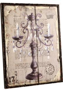 Quadro Decorativo Vintage De Parede Candeliere Com Moldura