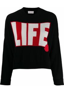 Moncler Suéter Life Com Padronagem - Preto