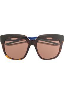 Balenciaga Óculos De Sol Clássico - Marrom