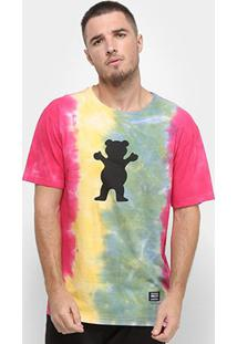 Camiseta Grizzly Irie Splatter Tie Dye Masculina - Masculino