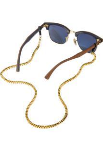 Corrente De Óculos Higher Veneza Dourado