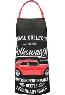 Avental Do Fusca Vintage Collection® - Preto & Vermelho