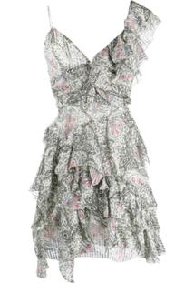 Isabel Marant Vestido Casual Com Estampa Floral - Neutro