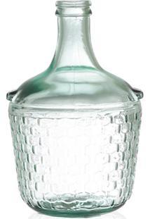 Garrafa Decorativa Em Vidro Transparente Colonial 4 Litros