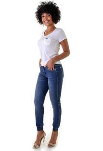 Calça Jeans Opera Rock Jogging Feminina - Feminino-Azul