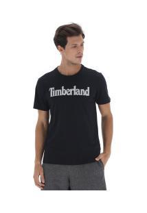 Camiseta Timberland Ss Kennebec Linear Logo - Masculina - Preto