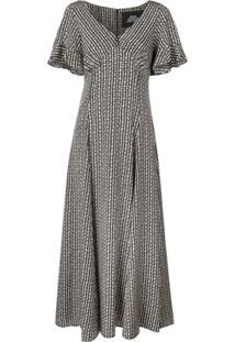 Marc Jacobs Printed Midi Dress - Preto