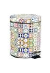 Lixeira Mosaico Português Colorido 5L
