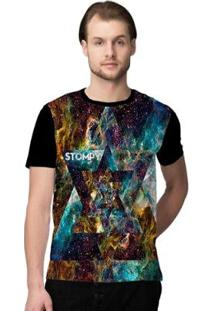 Camiseta Stompy Psicodelica32 Masculina - Masculino-Preto
