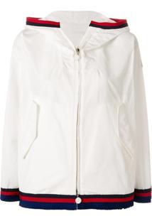 Moncler Jaqueta Com Contraste - Branco