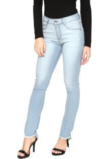 5d4a64d1e ... Calça Jeans Hering Skinny Desfiada Azul