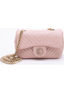 Bolsa Shoulder Bag Couro Misty Rose - P